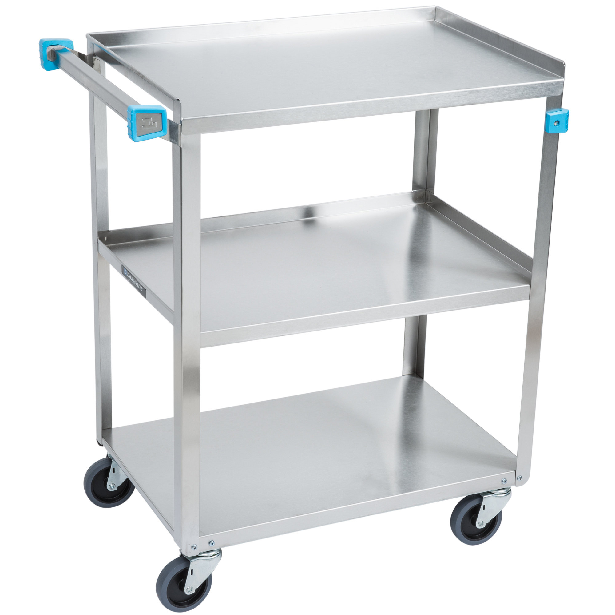 Standard Duty Stainless Steel 3 Shelf Utility Cart Charm Tex