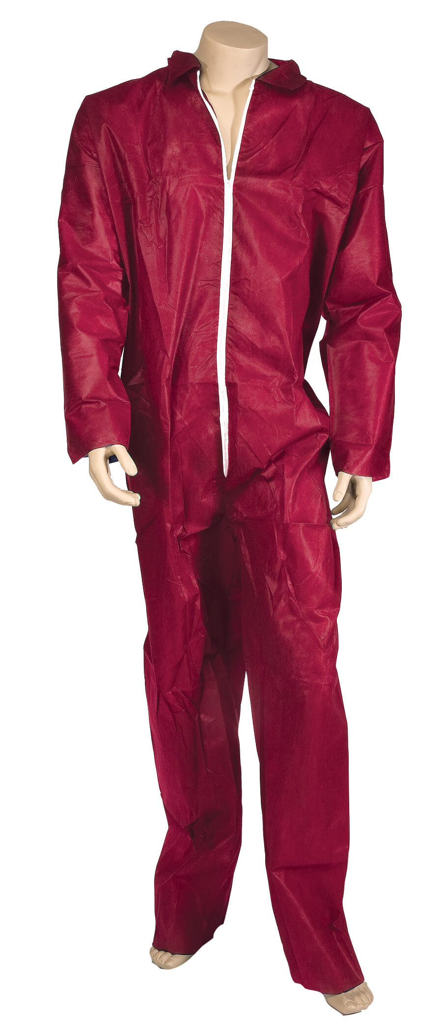 Lightweight Disposable Coverall - Red