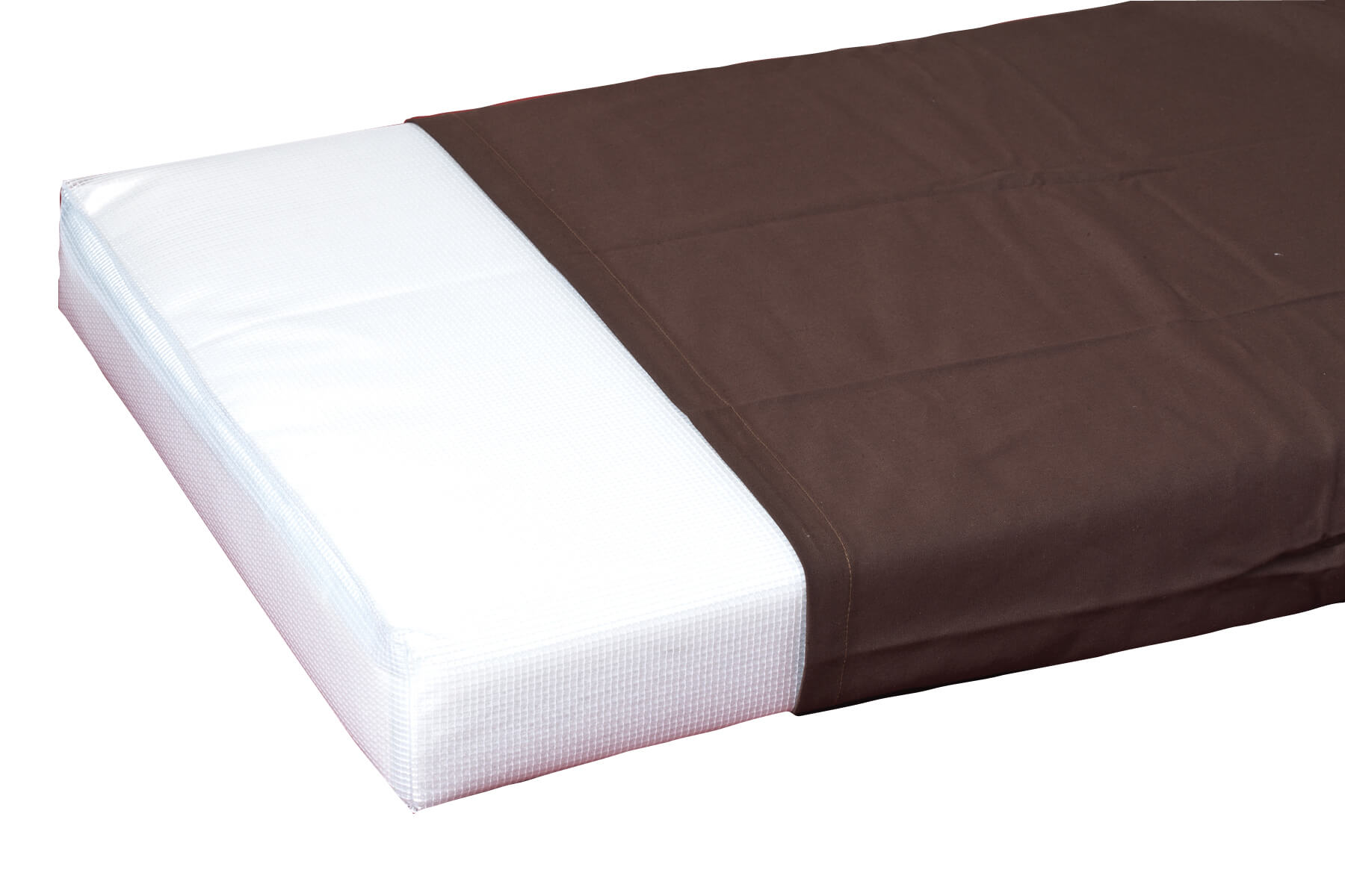 BROWN HEAVYWEIGHT TWILL MATTRESS COVER