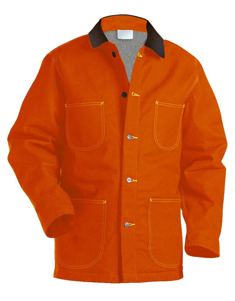 Blanket Lined Orange Twill Chore Coat
