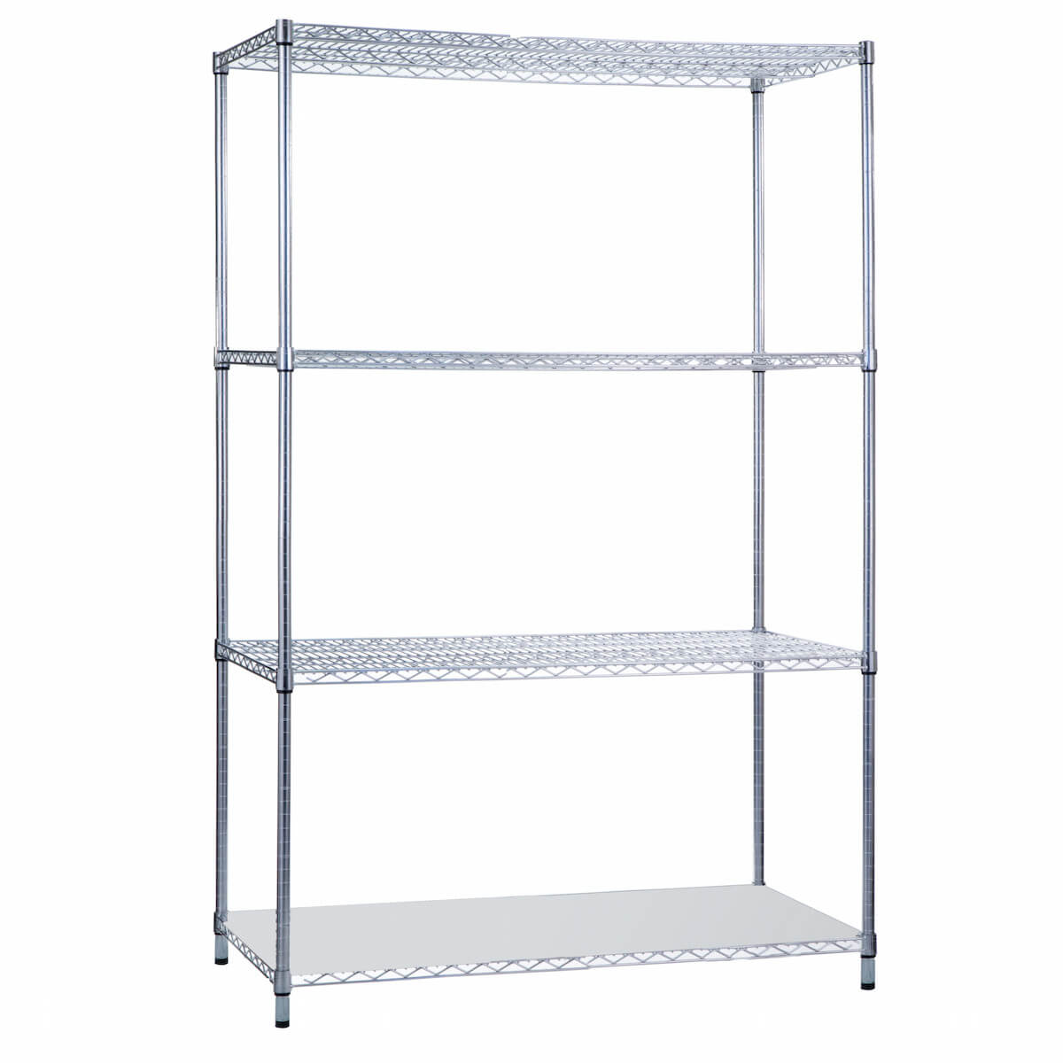 SHELVING UNIT WITH SOLID BOTTOM SHELF