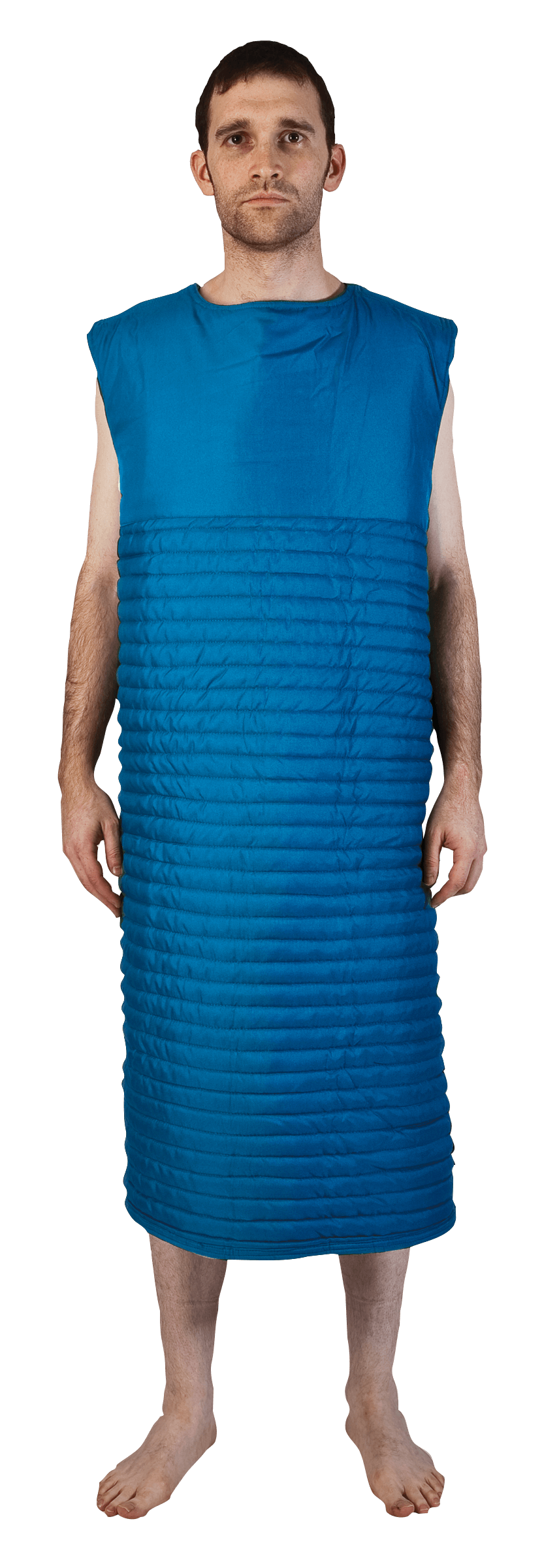 Blue Self Protection Smock - Fully Closed