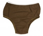Brown Cotton Panties With White Waist