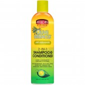 African Pride Olive Miracle Anti-Breakage Formula 2-in-1 Shampoo & Conditioner