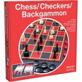 CHESS CHECKERS & BACKGAMMON