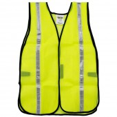 HIGH VISIBILITY SAFETY VEST WITH REFLECTIVE TAPE