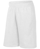 White Fleece Sweat Shorts
