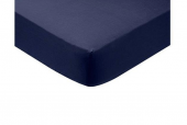 NAVY HEAVYWEIGHT POPLIN FITTED SHEETS --30