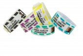 EXTRA WIDE CLINCHER IV PHOTO ID STRIPED WRISTBANDS