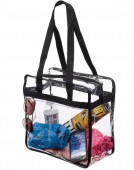 ZIPPER TOP CLEAR TOTE BAG