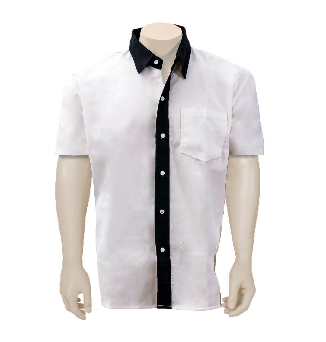 Inmate Shirt With Navy Trim